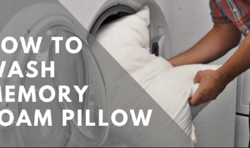 how to wash memor foam pillows